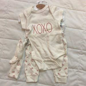 Rae Dunn 3 piece 0-3 months baby outfit